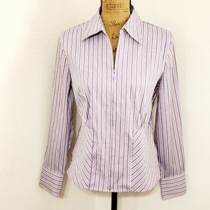 Fashion Bug•Striped, purple, zip front•l/s•Med.